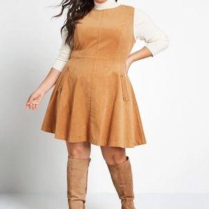 Modcloth Allure in Order Corduroy Mini Dress 2X